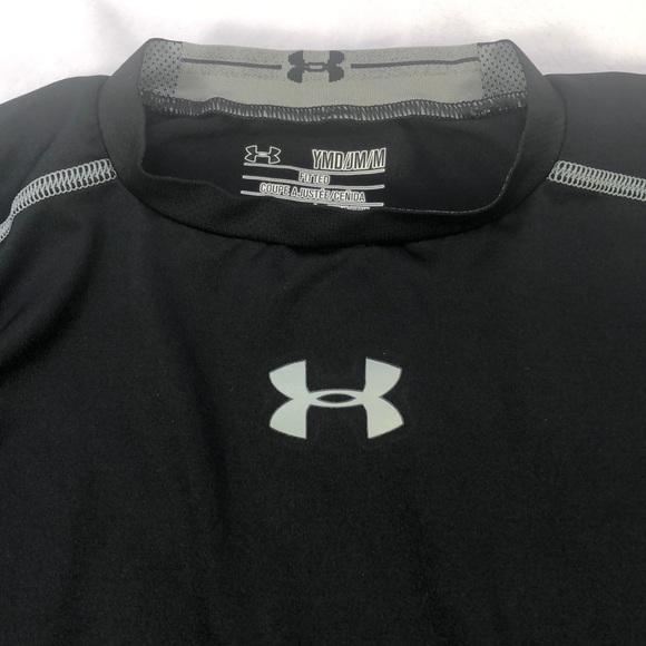 9545ea55 Boy's Under Armour Black Long-Sleeve Shirt Size M